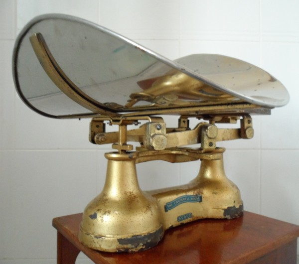 Vintage Medical Gold Baby Weighing Scales The Cromwell